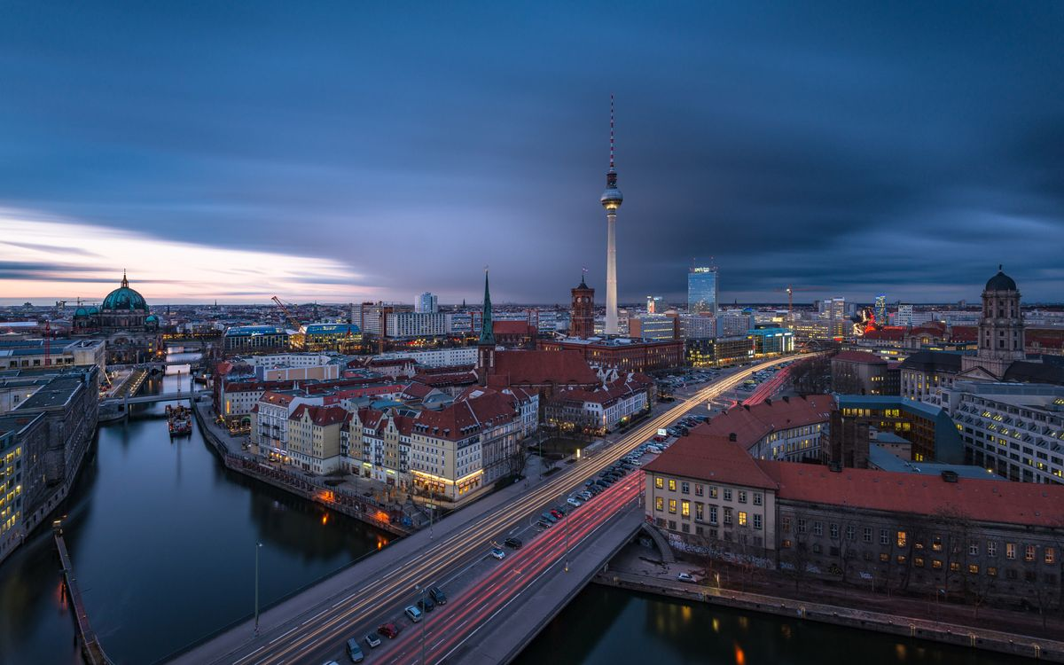 Photos for free Berlin, Germany, Berlin sunset - to the desktop