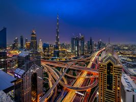 Заставки ночные города, ОАЭ, Дубай