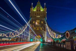 Бесплатные фото Тауэрский мост,в ночное время,Лондон,Великобритания,ночь,иллюминация