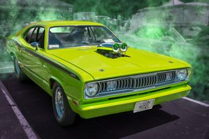 Фото бесплатно 970 Plymouth Duster, 1970 Plymouth Duster 440, 2018 Blue Ridge Community College Car Show