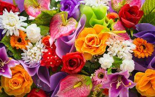 Заставки цветы, букет, цветок