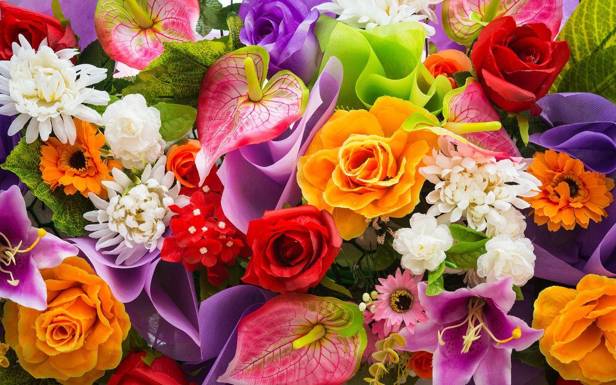 Фото бесплатно цветы, букет, цветок, цветочный, цветение, цветочная композиция, флора, цветочный фон, цветы