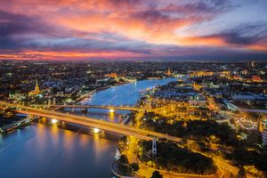 Бесплатные фото Таиланд,Бангкок,сумерки,закат,город