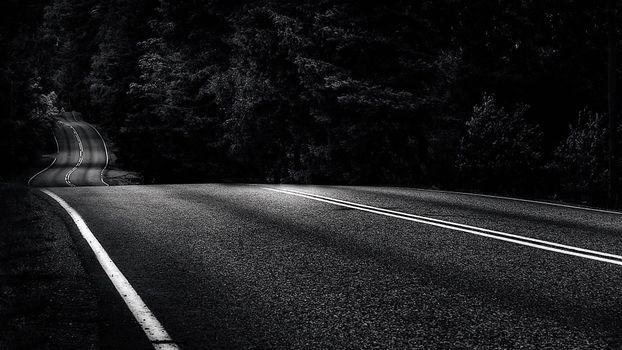 Фото бесплатно асфальт, монохромный, дороги