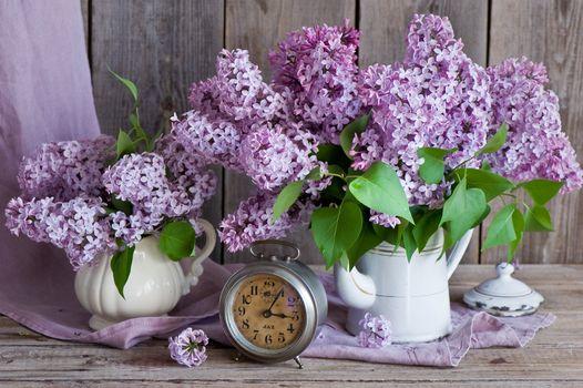 Цветы на прозрачном столе