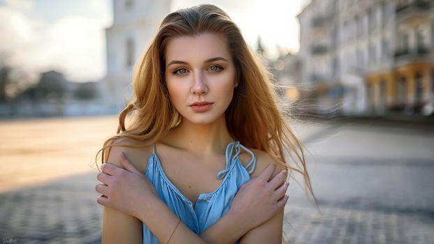 Заставки красивая девушка, портрет, блондинка