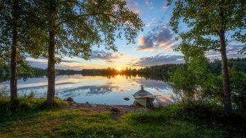 Река Оулуйоки в Финляндия