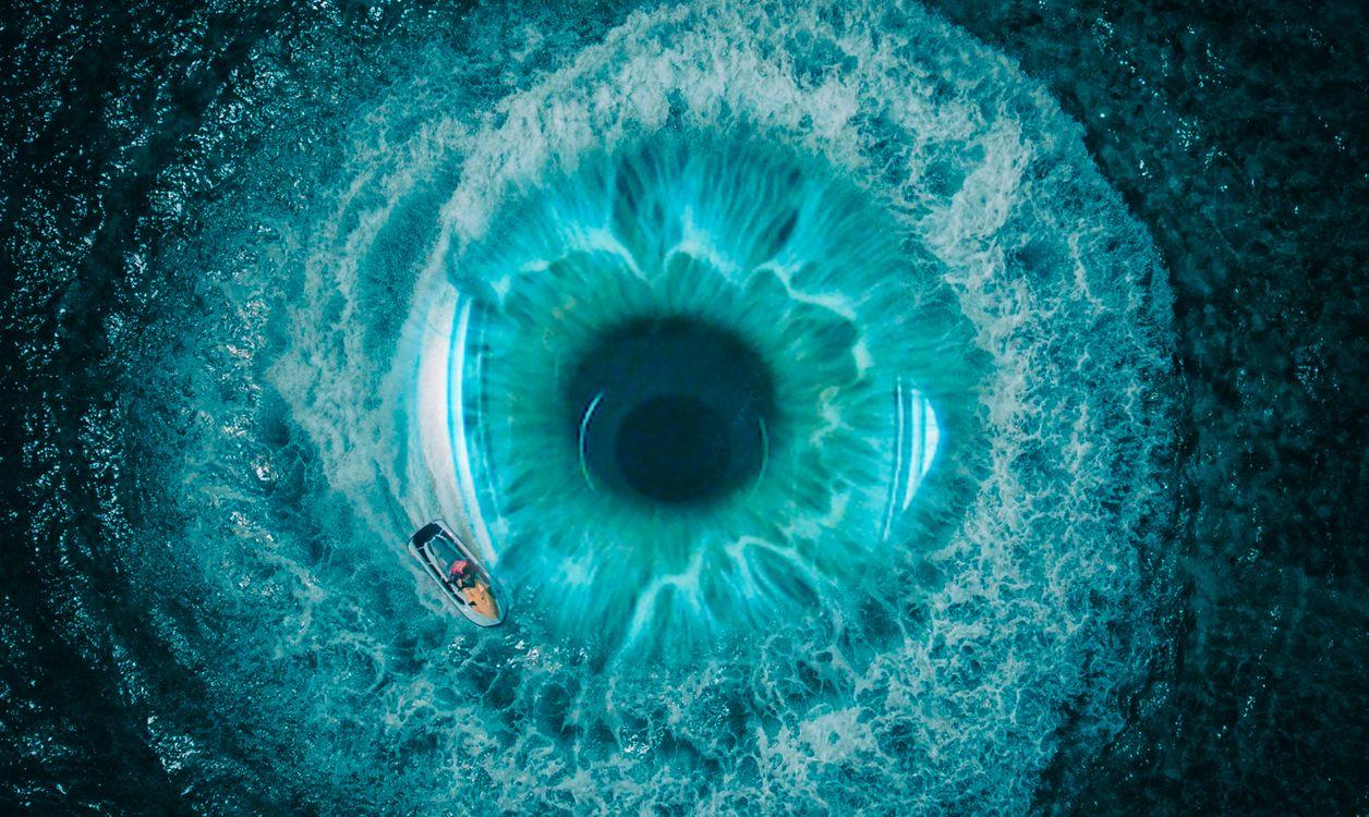 Фото бесплатно Подводный кратер, природа, синий - на рабочий стол