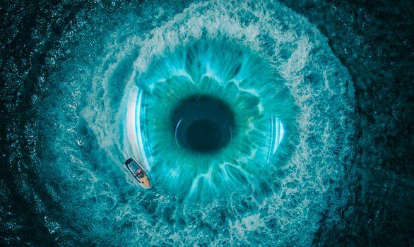 Бесплатные фото Подводный кратер,природа,синий,ирис,глаз,крупным планом,орган,бирюзовый,лазурный,тело человека,фотография,организм