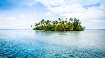 Заставки Small Tahiti Island,Французская Полинезия,таити,океан,тропический,остров,море