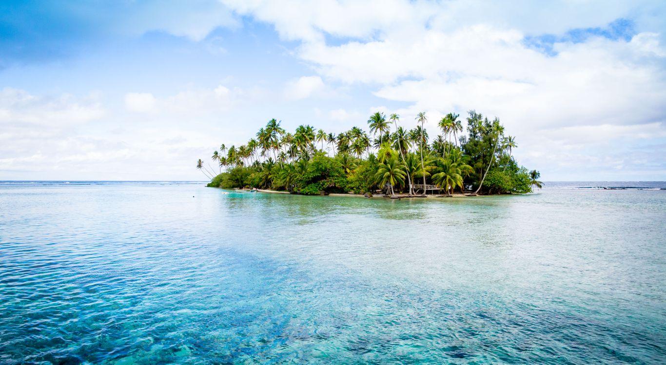 Фото Small Tahiti Island Французская Полинезия таити - бесплатные картинки на Fonwall