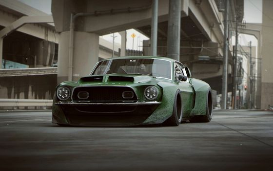 Photo free Ford Shelby Gt500, tuning, cars