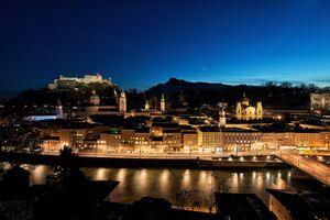 Фото бесплатно ночные огни, Зальцбург, город