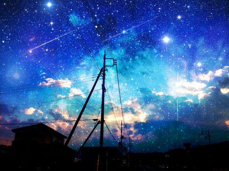 Фото бесплатно Аска, ночь, оригинальный