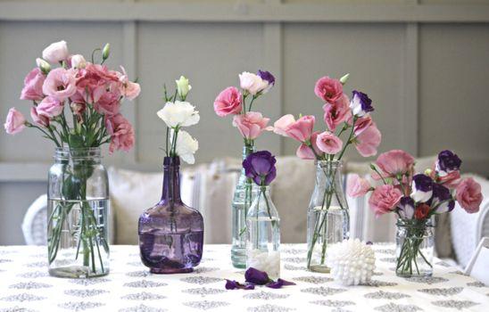 Фото бесплатно бутылки, вазы, букеты