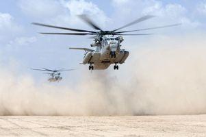 Заставки пустыня, вертолеты, низко, военный, проложить, средствами
