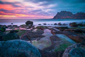 Фото бесплатно Лофотенские острова, Норвегия, море