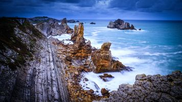 Photo free Seascape, Cantabrian Sea, Spain