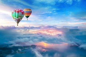 Заставки воздушные шары, море, небо