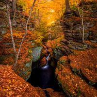 Фото бесплатно Висконсин, осень, водопад