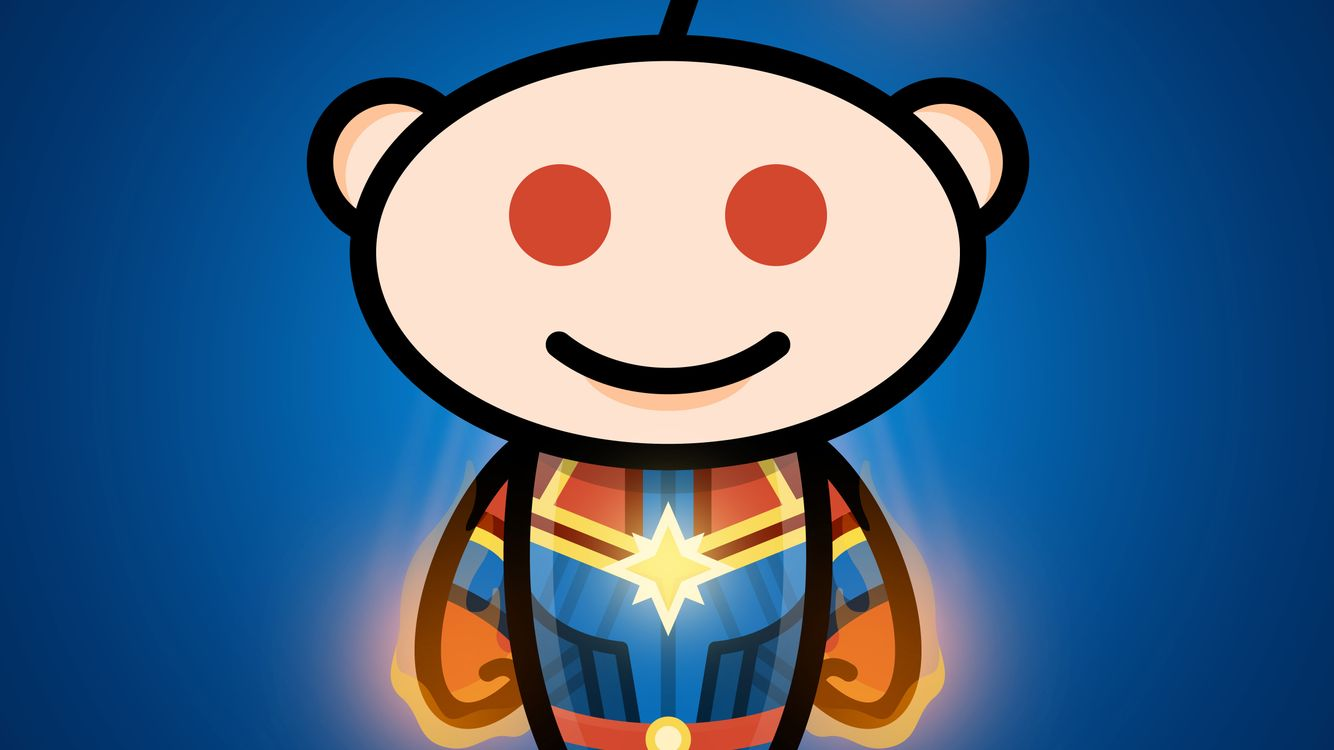 Photos for free Reddit, Captain Marvel, artwork - to the desktop