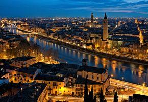 Фото бесплатно огни, Верона, ночной город