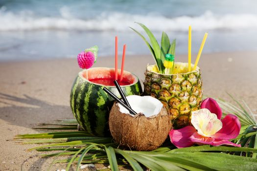 Фото бесплатно коктейль, арбуз, ананас