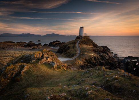 Фото бесплатно Великобритания, Лландвин, море