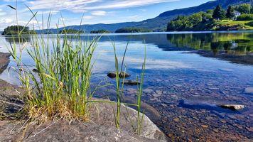 Заставки пейзаж,вода,озеро,природа,дерево,туризм,камни