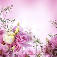 Картина с розовыми розами