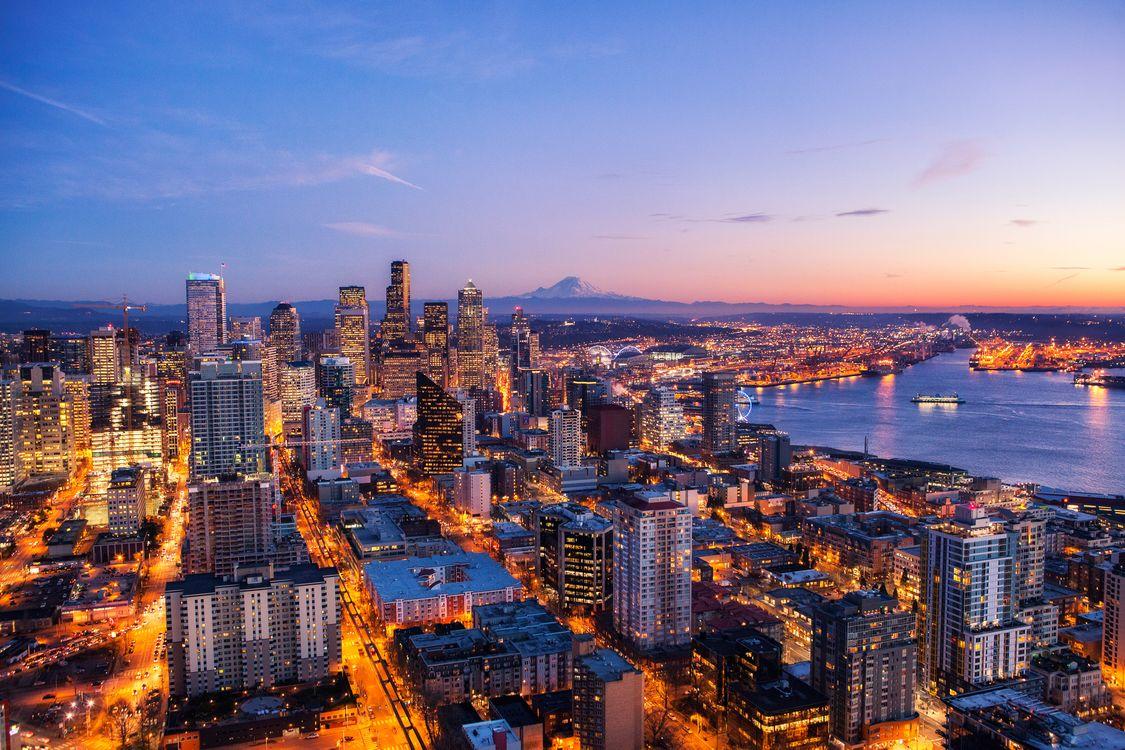 Фото бесплатно Сиэтл, город, мир - на рабочий стол