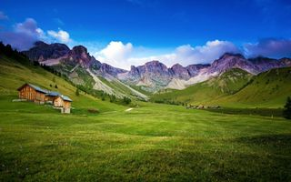Фото бесплатно домик, ферма, пейзаж