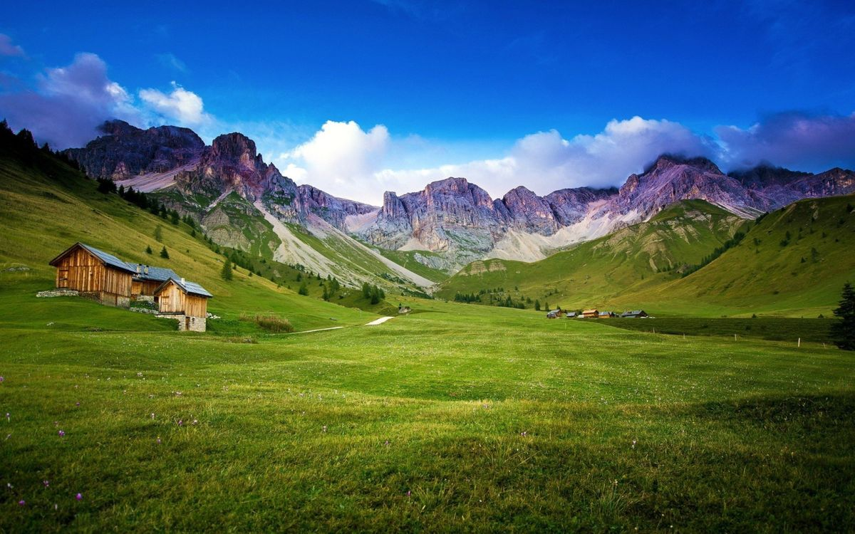 Фото бесплатно домик, ферма, пейзаж - на рабочий стол