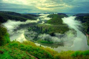 Красивая река в Германии Саар