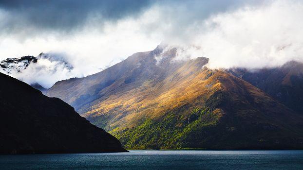 Фото бесплатно mountains, lake, landscape