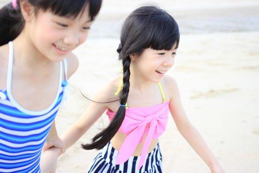 Photo free beach, man, girl