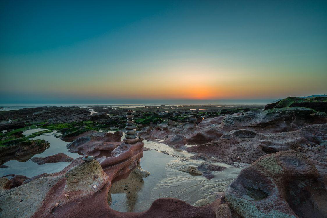 Фото природа Португалия закат - бесплатные картинки на Fonwall