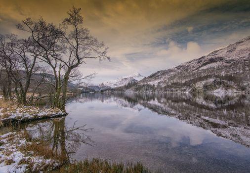 Фото бесплатно winter, lake, Llyn Gwynant
