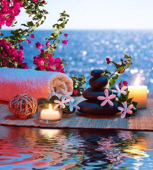 Бесплатные фото массаж,романтик,свечи,камни,огонь,пламя