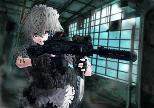 Фото бесплатно Тохо, идзаей Сакуя, пистолет
