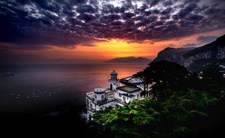 Фото бесплатно Закат, Капри, Италия
