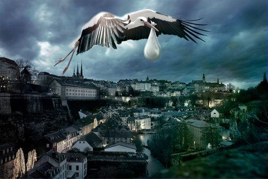 Фото бесплатно город, дома, небо