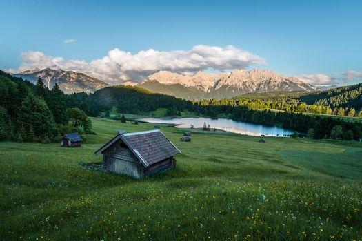 Бесплатные фото Озеро Герольдзее,Германия,Geroldsee,Южный Тироль,Альпы,Гармиш,Партенкирхен,сельская местность,Bavaria,Бавария,горы,озеро