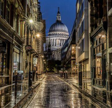 Заставки Сент-Полс, дождливая ночь, Сент-Полс-Бэй