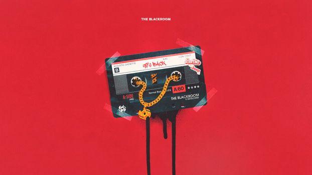 Бесплатные фото кассета,90е,золото,пленка,простой фон,красный фон,красный