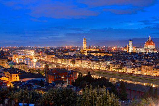 Фото бесплатно Италия, ночной город, ночь