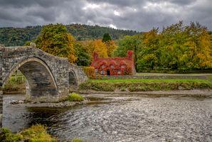 Фото бесплатно река, пейзаж, мост