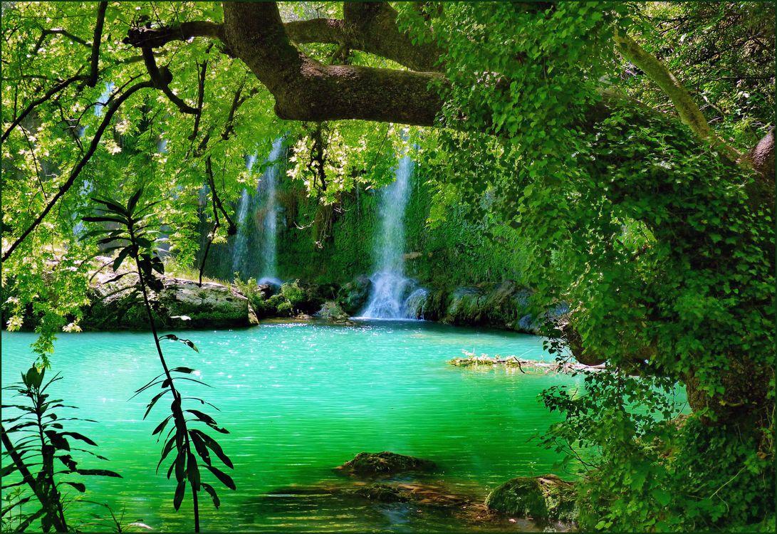 Фото бесплатно Kursunlu, Водопад Куршунлу, Турция, водоём, деревья, райский уголок, пейзаж, пейзажи