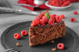 Бесплатные фото пирожное, шоколадное, ягоды, крем, малина