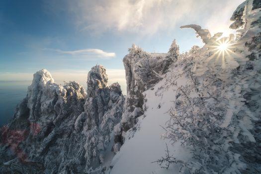 Зимний Крым · бесплатное фото